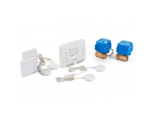"""Беспроводной комплект защиты от протечки воды AquaBast Квартира 3/4""""-RF"""